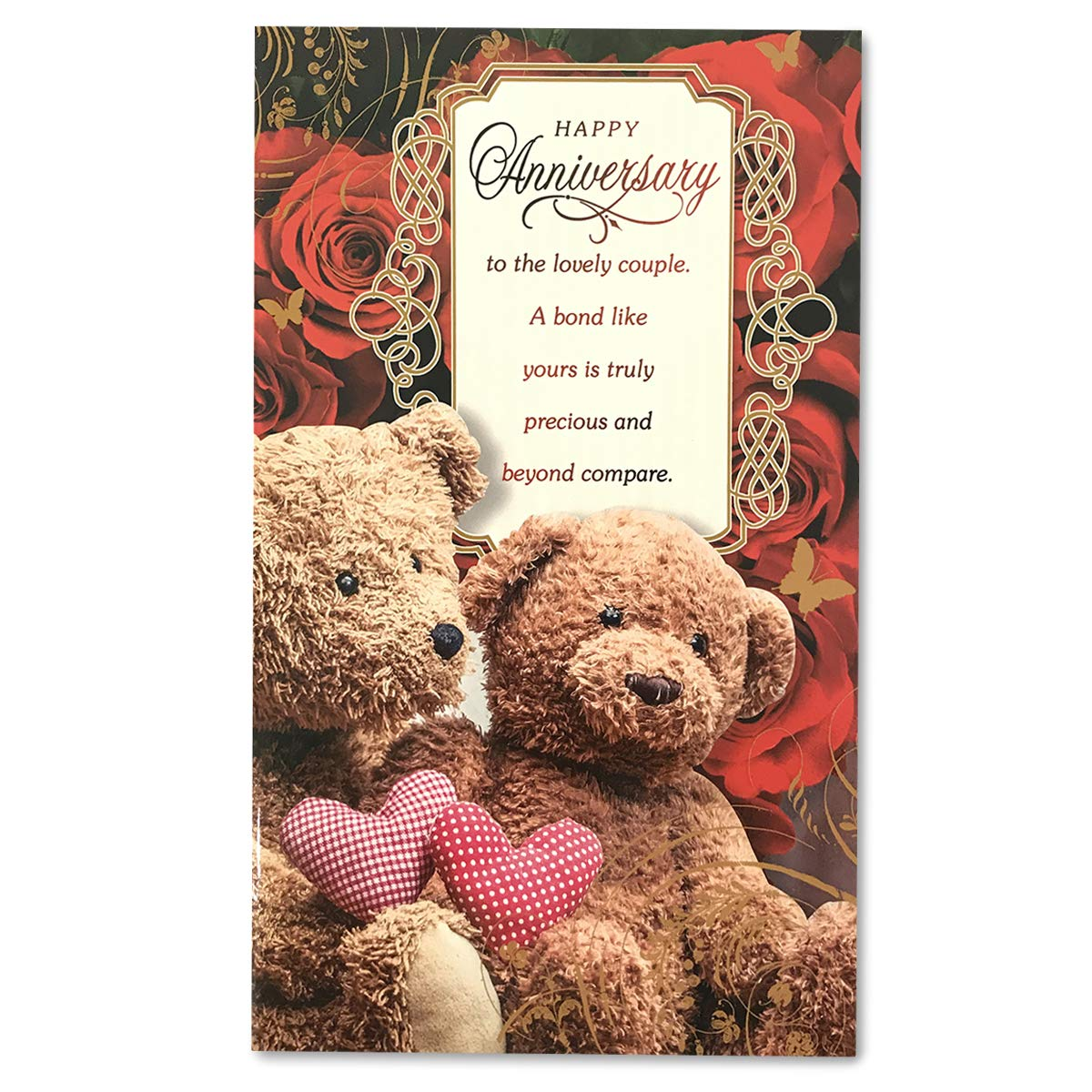 Wedding Anniversary Wishes Greeting Card Happy Anniversary To The Lovely Couple A Bond Like Yours Is Truly Precious And Beyond Compare Amazon In Home Kitchen