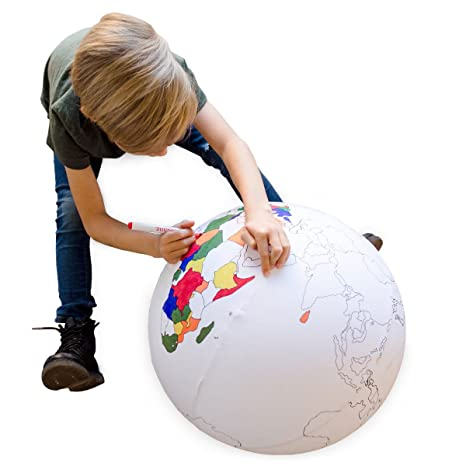 Amazoncom Seedling Color the Earth Inflatable Ball Activity Kit