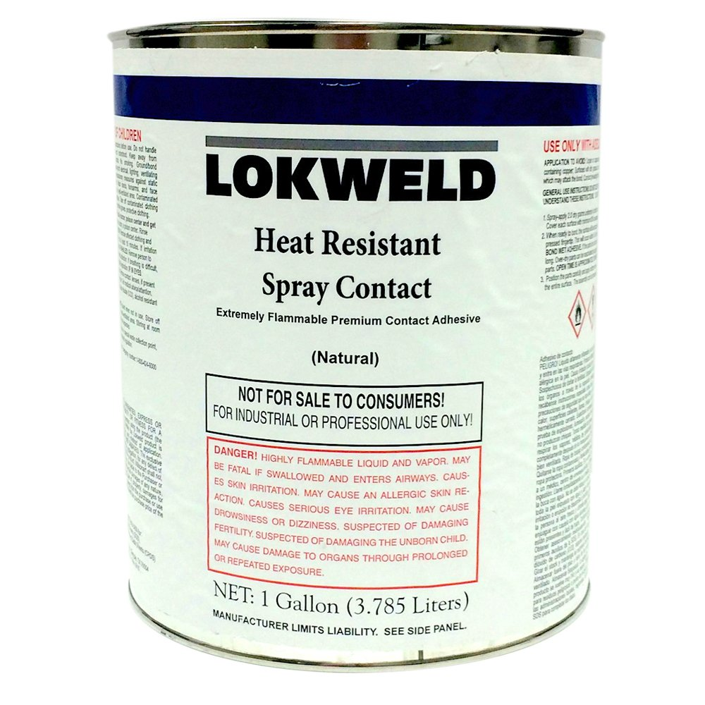 Lokweld Heat Resistant Contact Adhesive - 1 Gallon