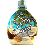 That's What Sea Said Tattoo Friendly Tanning Lotion Accelerator For Outdoor Pools & Indoor UV Skin Tanning Beds - White Lotio