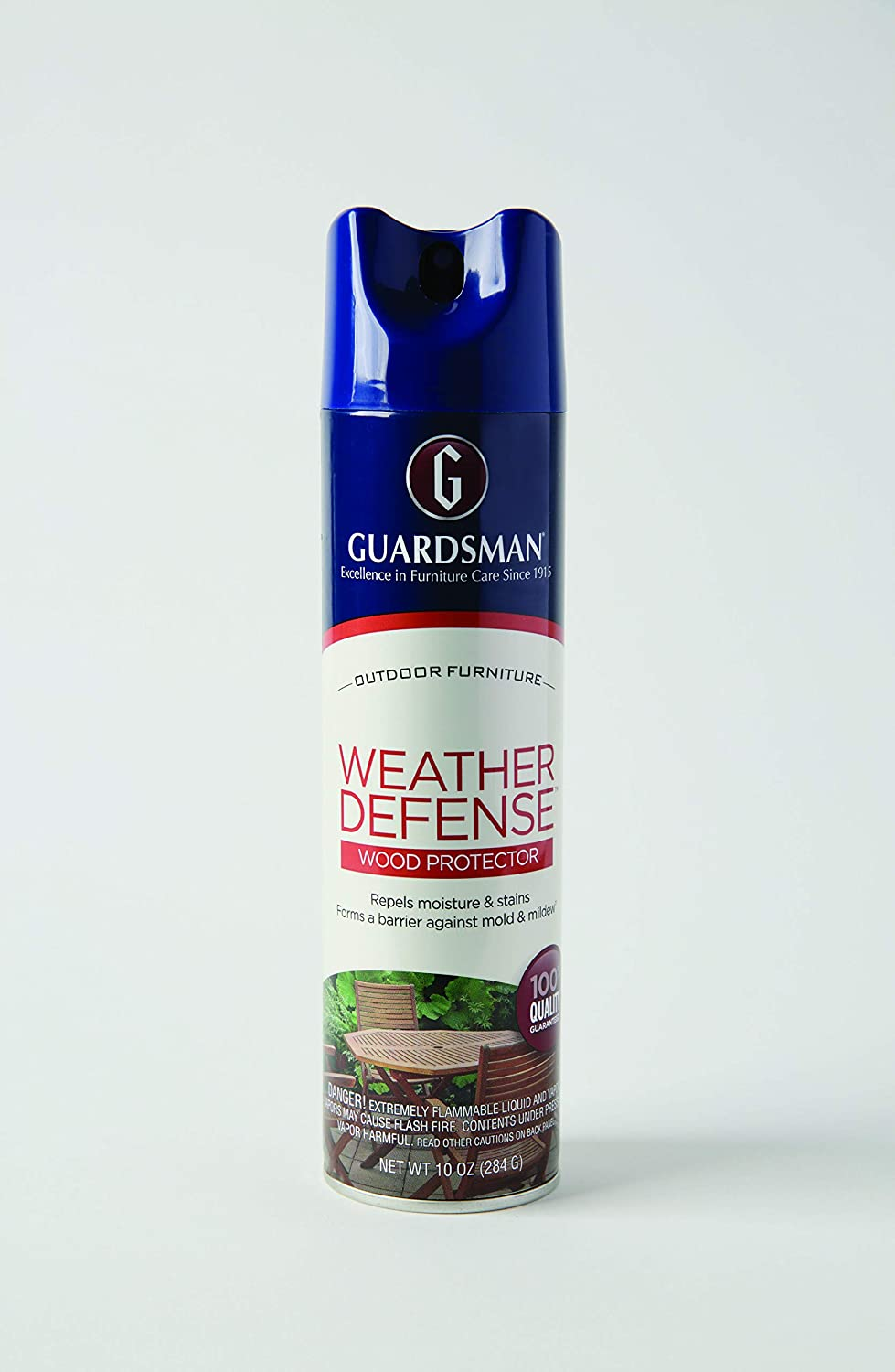 Guardsman 461900 Weather Defense Outdoor Wood Furniture Protector - Repels Moisture and Stains, 10 Oz, 10 Fl Oz