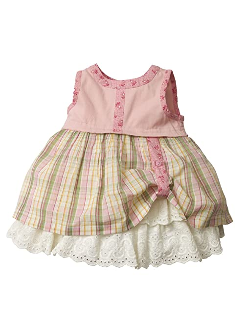 1940s Children's Clothing: Girls, Boys, Baby, Toddler Louisa Pink Baby Dress $29.00 AT vintagedancer.com