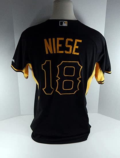 half off ca9fe e243f 2016 Pittsburgh Pirates Jon Neise #18 Game Issued Batting ...