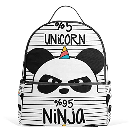 Amazon.com: Cute Panda Unicorn Casual Student Backpack ...