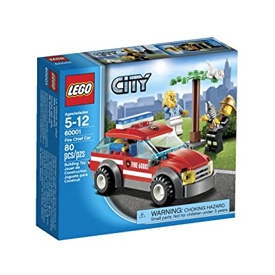 LEGO City Fire Chief Car 60001: Toys & Games