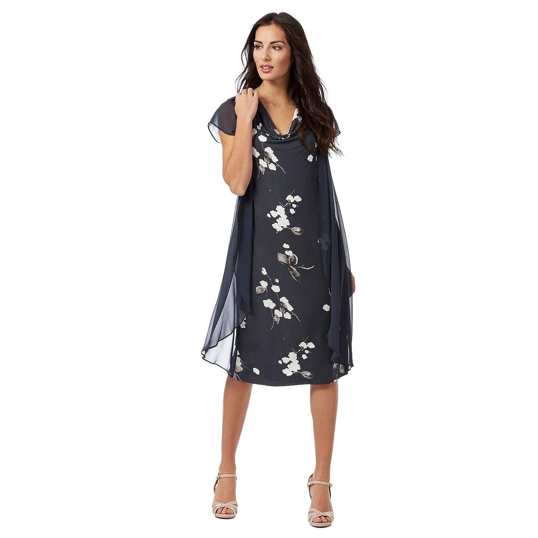Rjr.John Rocha Womens Dark Grey 'Evie' Chiffon Overlay Floral Dress