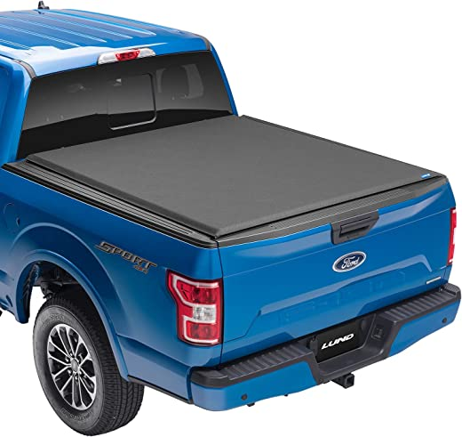 """Lund Genesis Elite Roll Up, Soft Roll Up Truck Bed Tonneau Cover   96872   Fits 2015 - 2020 Ford F-150 5' 7"""" Bed (67.1"""")"""