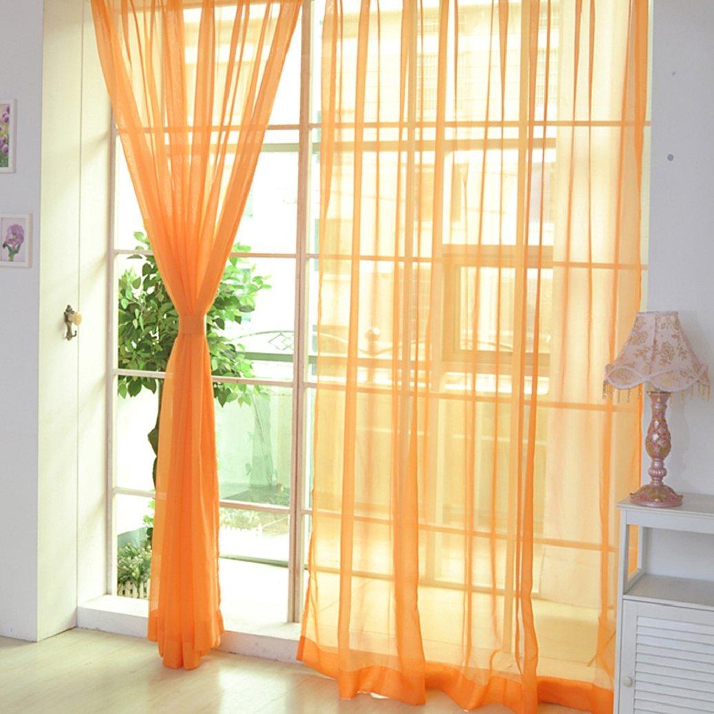 dragonaur casa dormitorio color puro cristal cortina de hilo Ventana Valance, café, talla única