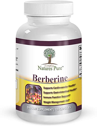 Premium Berberine HCl 500mg – 120 capsules – cardiovascular gastrointestinal immune weight loss support- Chromium Cinnamon