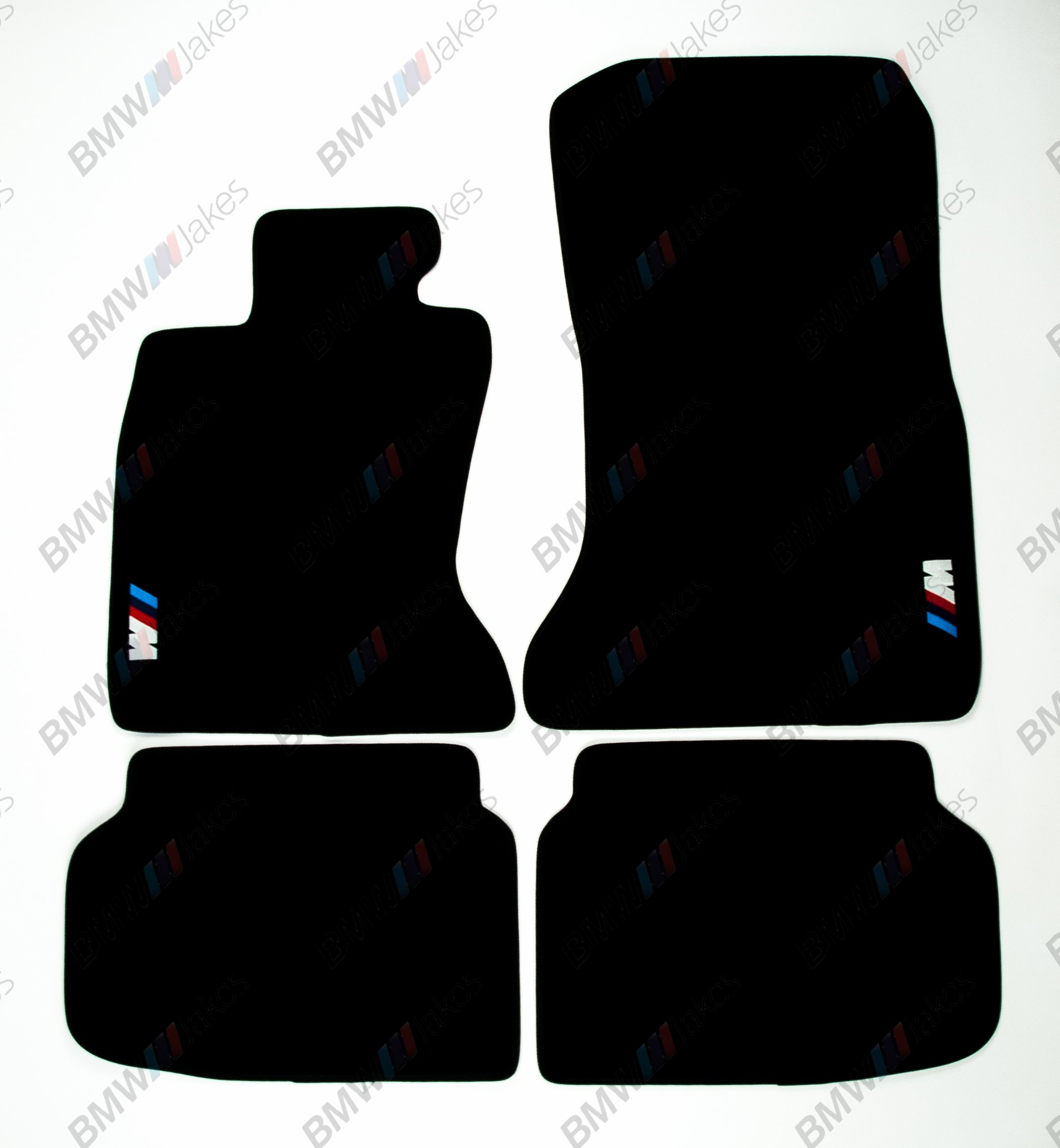 NEW CAR FLOOR MATS BLACK with ///M EMBLEM for BMW 7 series F01 ( 2007 - 2015 )