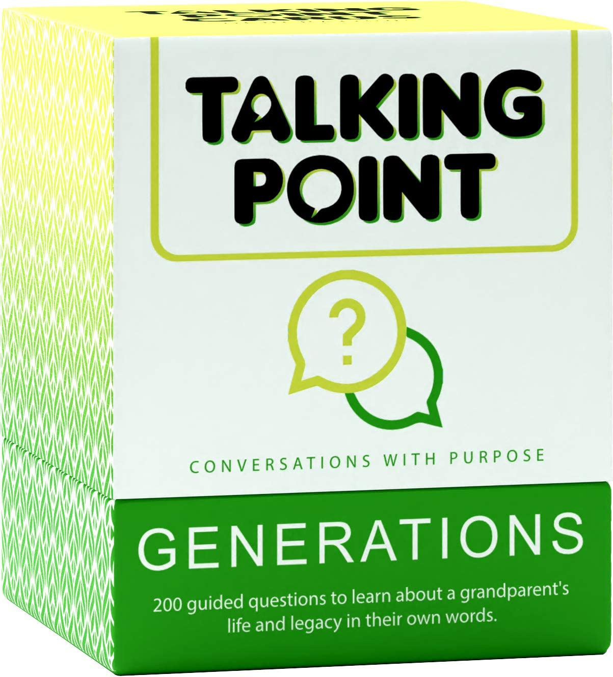 200 INTERGENERATIONAL Conversation Starters for Children to Parents and Grandparents. Learn Who Grandma & Grandpa Really are in Their Own Words with Thoughtful, Meaningful & Fun Question Cards Gift