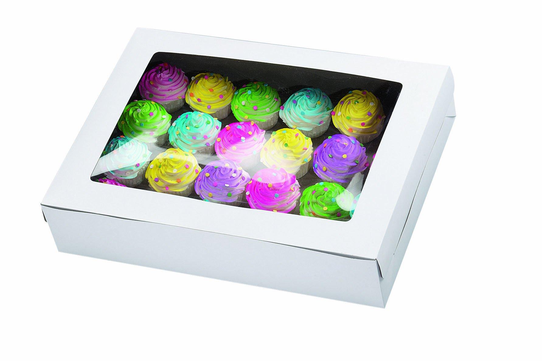 Wilton White Window Cake Box, 21 by 14 by 5-Inch