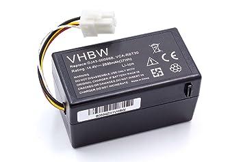 vhbw Batería Li-Ion 2600mAh (14.4V) para robot aspidador doméstico Samsung Navibot SR8940, SR8950, SR8980, SR8981, VCR8940 como DJ43-00006B, VCA-RBT30