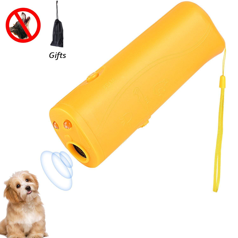 Believeee Dog Barking Stop 3 in 1 Anti Ultrasonic Dog Repeller Bark Handheld Dog Trainer Device Safe Pet Training Devices