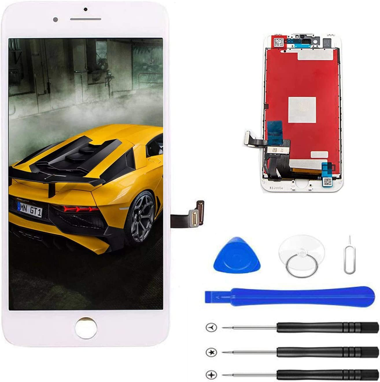Magic Tech Replace LCD Glass Screen for iPhone 8 4.7inch Digitizer Assembly Full Complete Frame Set Display Replacement (White)