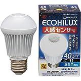 アイリスオーヤマ LED電球 E26口金 40W形相当 昼白色 下方向タイプ 人感センサー エコハイルクス LDA6N-H-S5