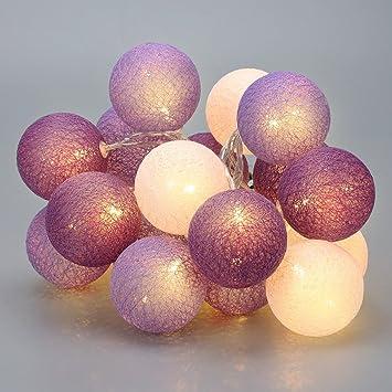 Zodight Guirnalda Luces LED USB - 3,3M Luces LED Habitación con Control Remoto y 8 Modos Luz, 20 Bolas Luz de Hadas Cadena de Luces para Hogar, Pared, Navidad, Cumpleaños, Dormitorio: Amazon.es: