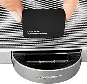 LAYEN i-SYNC Bluetooth Receiver 30 pin Adapter - Audio Dongle for Bose SoundDock and Other Hi-Fi, Stereo and 30 pin Docking Stations (Not Suitable for Car)