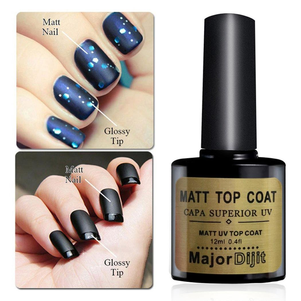 top coat uv, Sannysis Top Coat Semipermanente Esmalte Semipermanente de Uñas Gel UV LED Kit de Manicura Soak off 12ml top coat gel top coat uñas top coat mate Diamond Nail Gel Polish Primer Nail Art