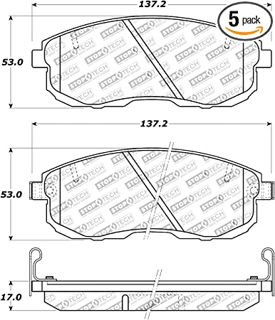 StopTech 309.06530 Street Performance Front Brake Pad
