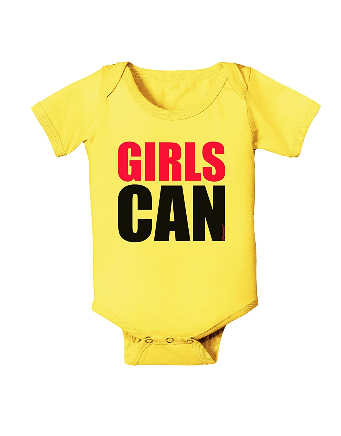 TooLoud Girls Can Baby Romper Bodysuit