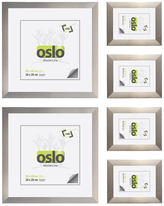 Amazon.de: OSLO MasterLine Bilderrahmen 15x20 gold Aluminium ...