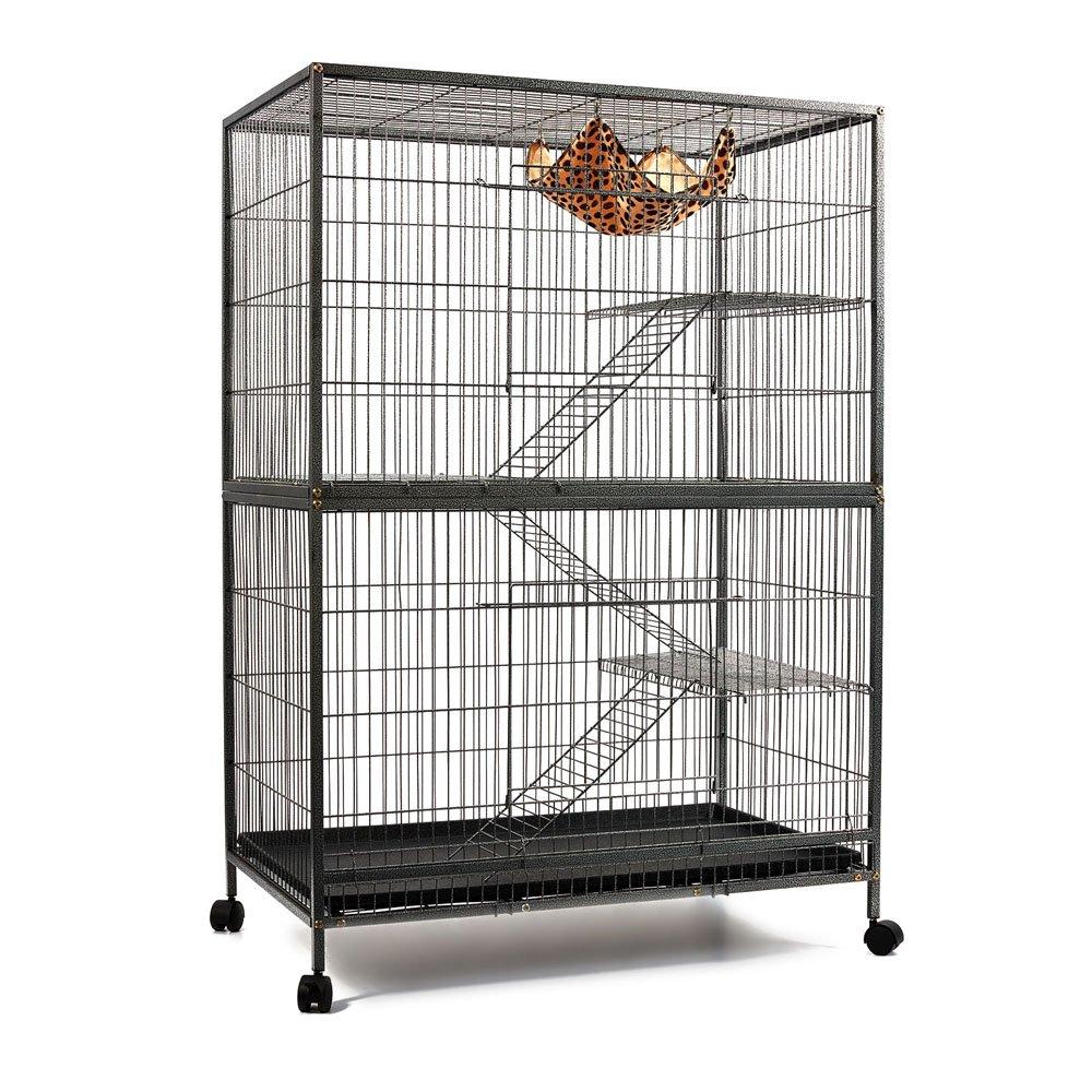 4 Level Pet Cage Black