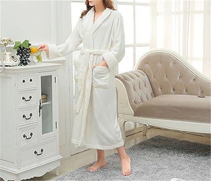 Doris Batchelor Fashion Women Super Soft Winter Warm Long Bath Lovers  Kimono Bathrobe Men Dressing Gown bab3a7099