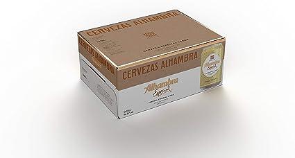 Mahou - Alhambra Especial Cerveza Dorada Lager, 5.4% Volumen de Alcohol - Pack de 12 x 33 cl: Amazon.es: Alimentación y bebidas