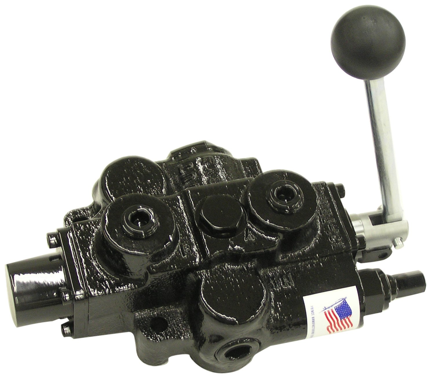 Prince RD512AA5A4B1 Directional Control Valve, Single Spool, 3 Ways, 3 Positions, Open Center, Spring Center To Neutral, Cast Iron, 3000 psi, Lever Handle, 30 gpm, In/Out: 3/4'' NPTF, Work 1/2'' NPTF