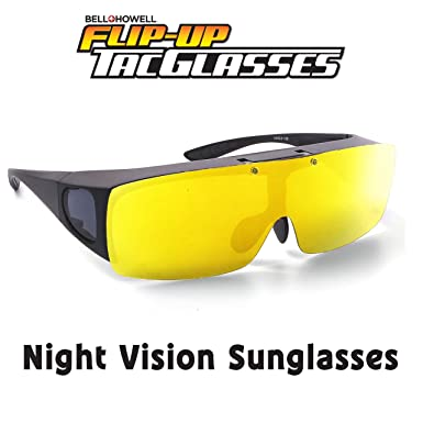 fa5f3e93db Image Unavailable. Image not available for. Color  TAC FLIP Nightvision  Glasses by Bell+Howell Sports Polarized Flipping Sunglasses ...