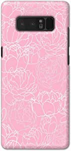 Okteq thin slim fit case forSamsung Galaxy Note 8 - pink rose by Okteq