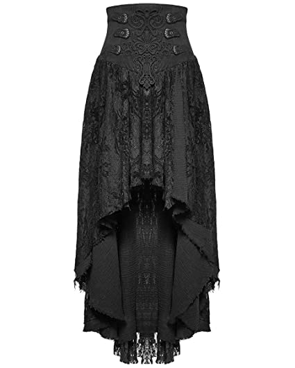10faf44e67e Punk Rave Gothic Skirt Long Black Lace Steampunk VTG Victorian Corset  Witch  Amazon.co.uk  Clothing