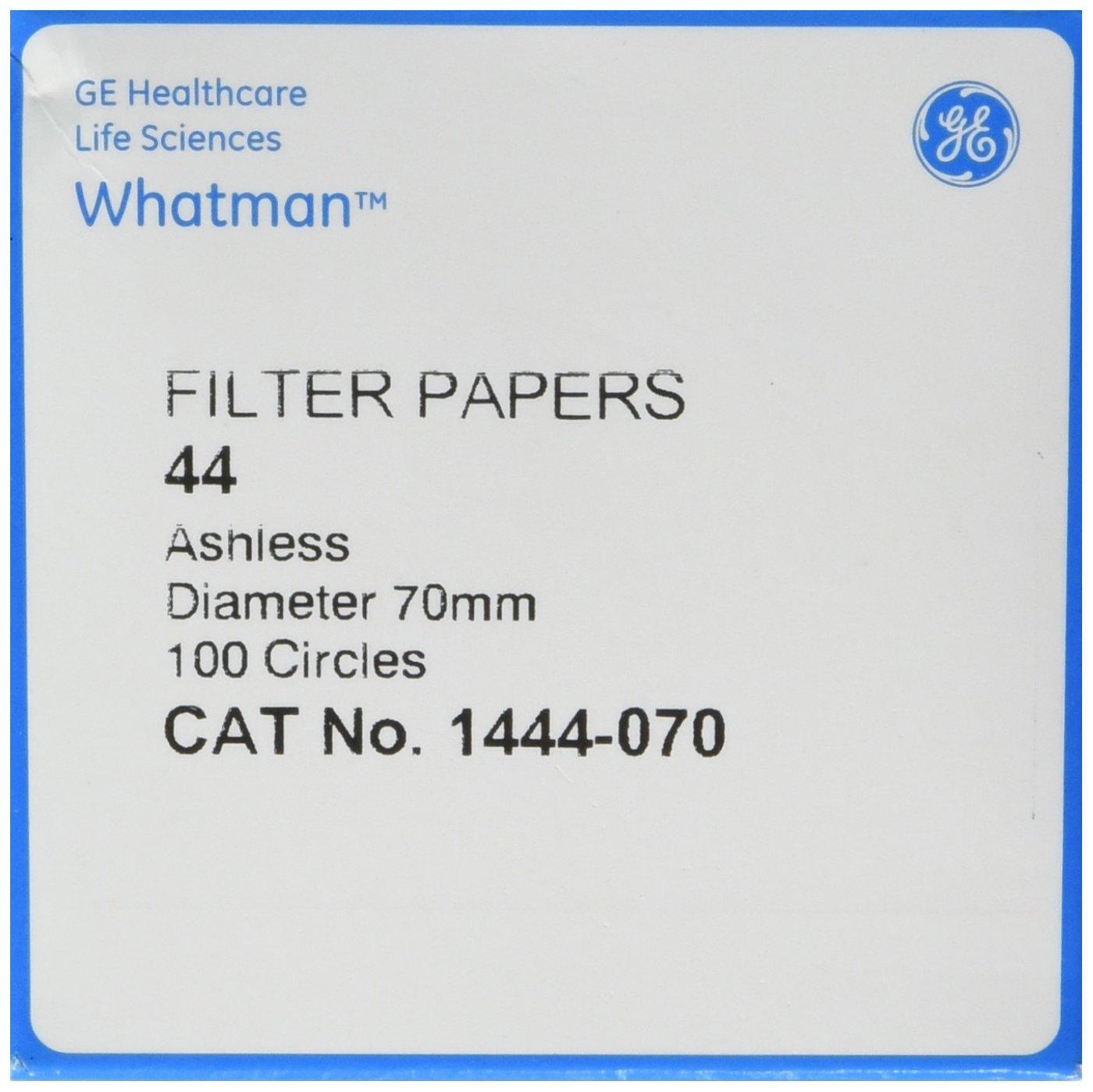 70mm Pack of 100 Whatman 1444-070 Quantitative Filter Papers Ashless Grade 44 Circles