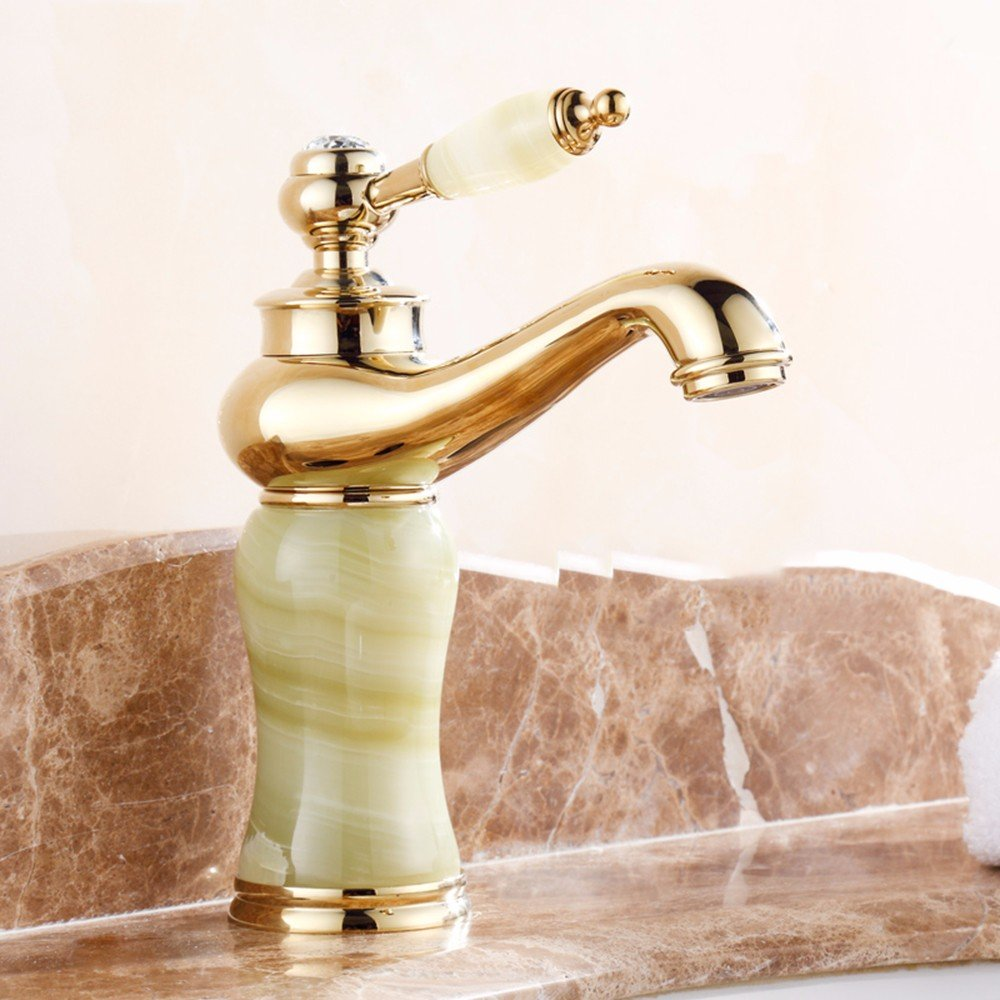 4 LHbox Basin Mixer Tap Bathroom Sink Faucet European style, jade, basin, hot and cold, Single Hole Sink mixer 3