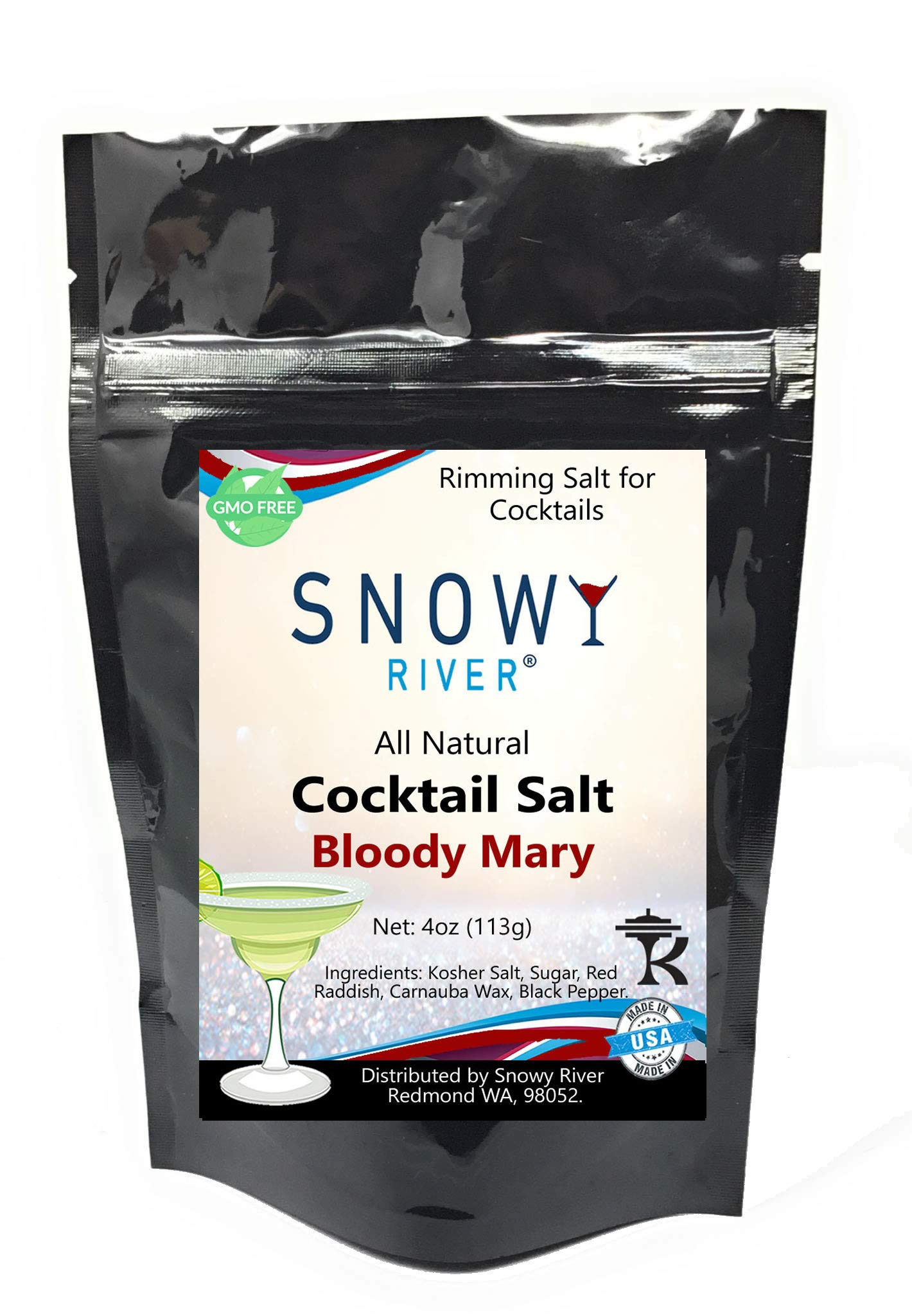 Snowy River Bloody Mary Cocktail Salt Mix - All Natural Pepper and Salt Cocktail Rimmer (1x5lb Bag) by Snowy River Cocktails (Image #4)