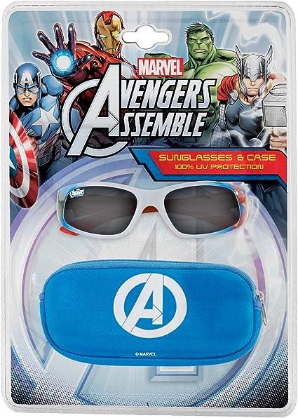 Marvel Vengadores gafas de sol y Case Pack, Niños estilo 1: Amazon ...