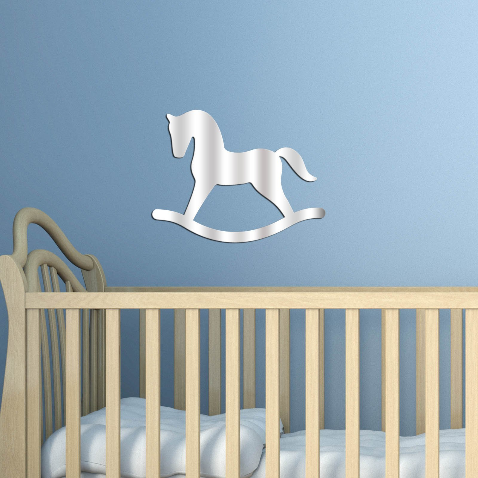 Decorative Removable Wall Sticker Mirror PLEXIGLASS (11'' x 8.3'') Number of Pieces 1 / Design Geometric Modern Pattern Horse Animal Toy / Background Decoration Perfect Design For Home, Office, Room