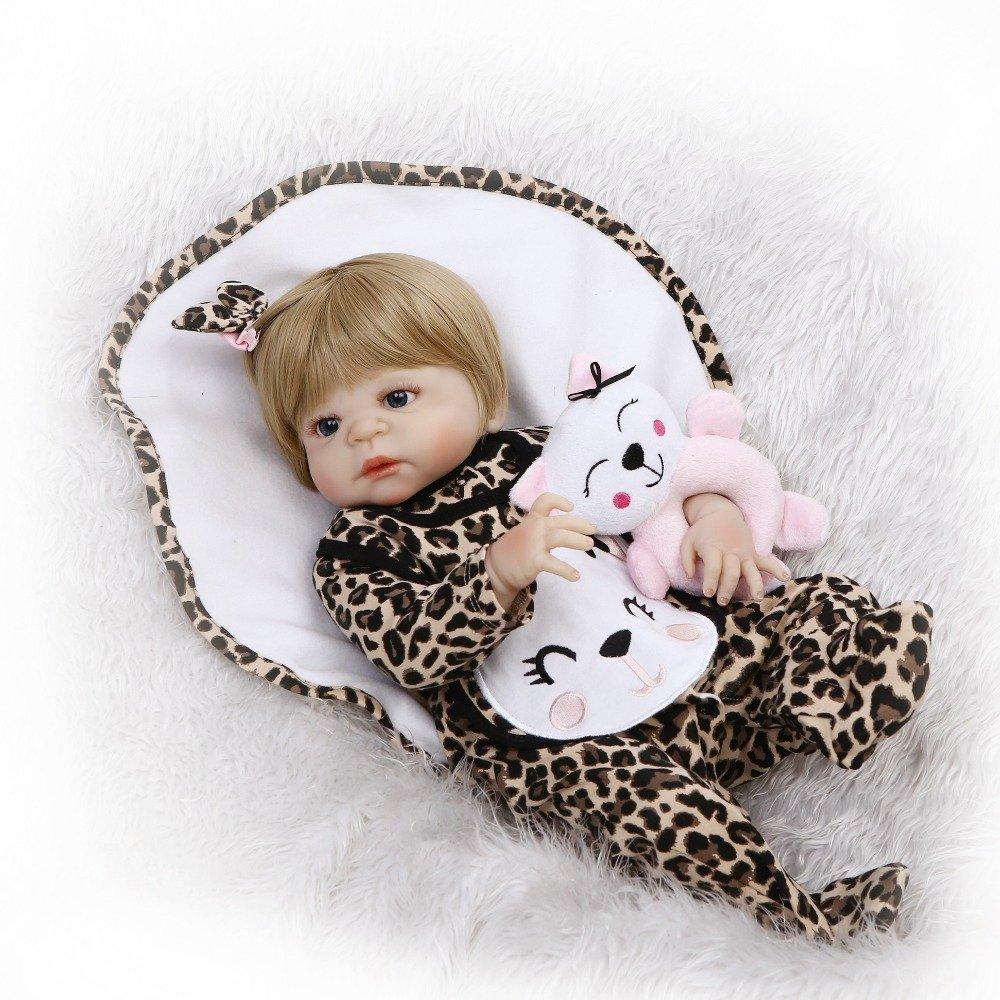 icradle 23インチ57 cm人気フルシリコンシリコンビニールハンドメイドRealリアルなラブリーキュートガールRebornベビー人形Lifelike子おもちゃWeighted新生児人形解剖学的に正しいcfrafted Xmasギフト   B07BF7HH4R