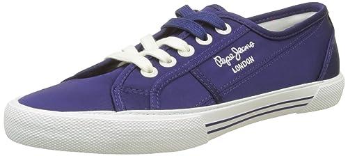 London Aberlady Satin, Zapatillas para Mujer, Azul (Dk Ocean), 38 EU Pepe Jeans London