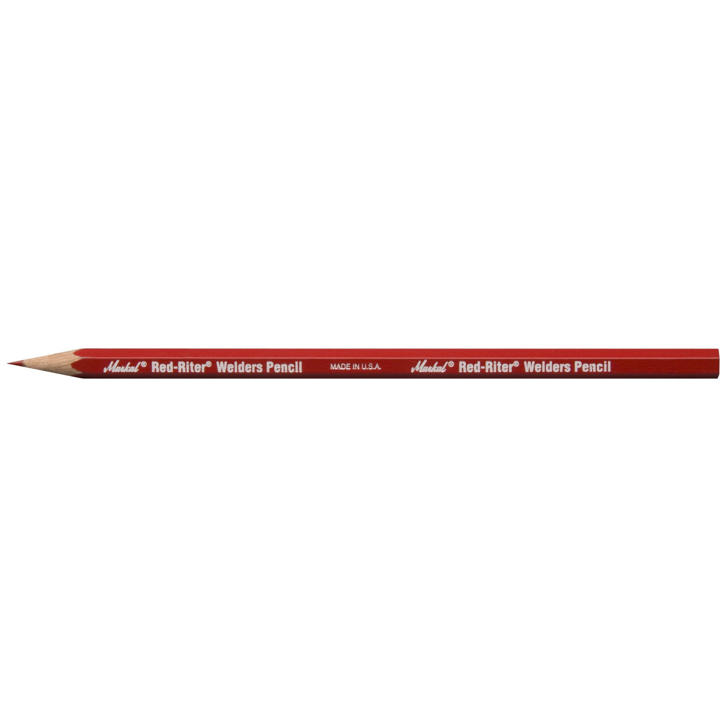 Markal 96100 Riter Welders Pencil, Red (Pack of 12)