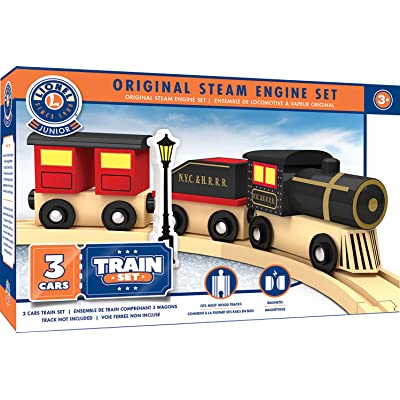 MasterPieces Lionel Original Steam Engine Real Wood Toy Train Set, Assorted: Toys & Games