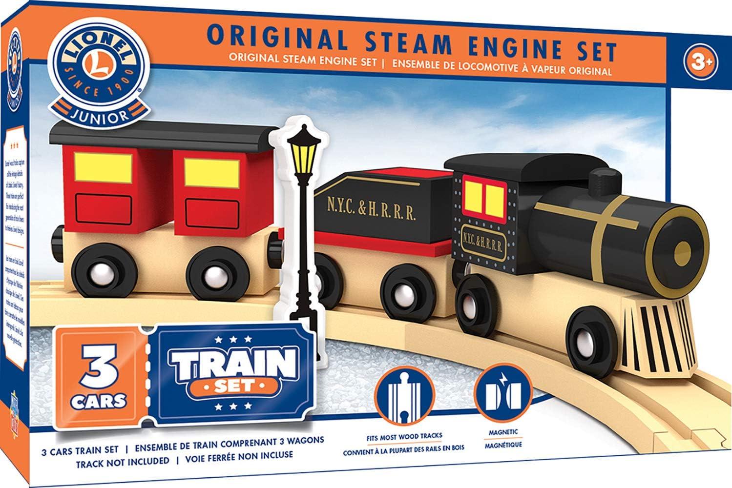 MasterPieces Lionel Original Steam Engine Real Wood Toy Train Set, Assorted