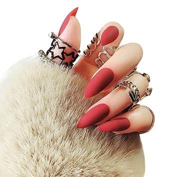 Aisi 24pcs Künstliche Fingernägel Zum Aufkleben Künstliche Nägel Nail Tips Selbstklebende Nägel Nagelaufkleber Nägel Tips Mit Kleber F93x1