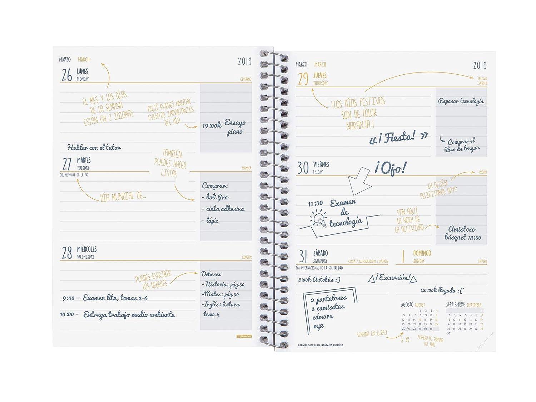 Finocam – Agenda 2019-2020 Week View Landscape Spanish Prints Floral