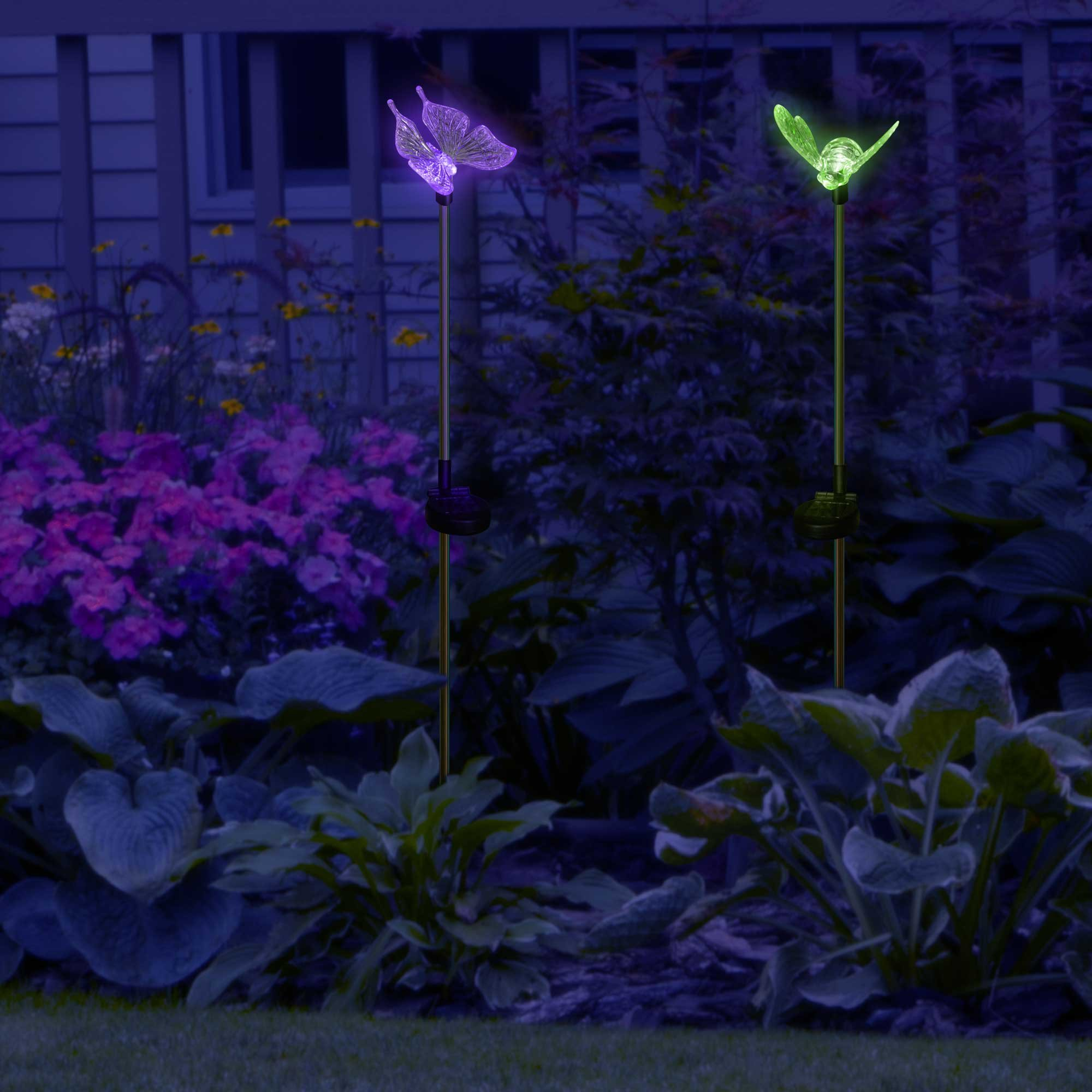 SolarDuke Solar Garden Outdoor Stake Lights Butterfly and Bumble Bee Garden Lighting Path Decoration Color Changing Patio Lawn Backyard Decor by SolarDuke (Image #8)