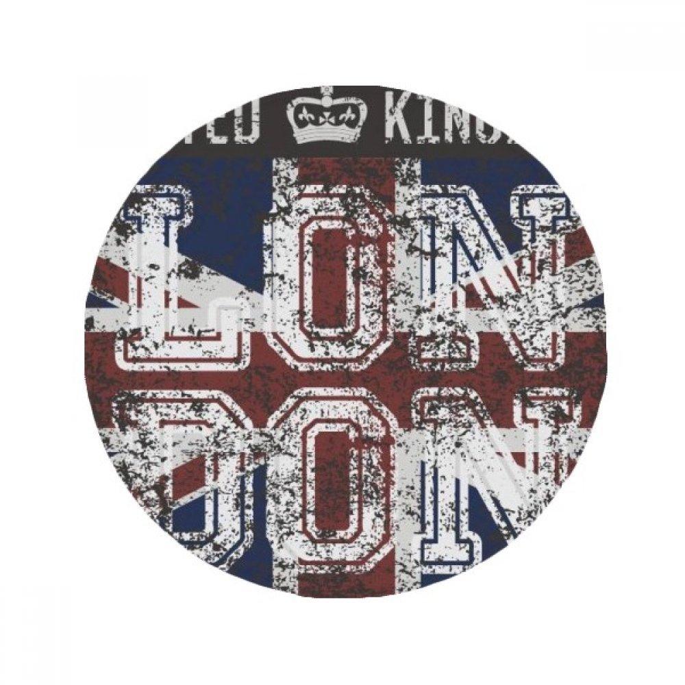 60X60cm DIYthinker London UK England The Union Jack Flag Mark Anti-Slip Floor Pet Mat Round Bathroom Living Room Kitchen Door 60 50Cm Gift