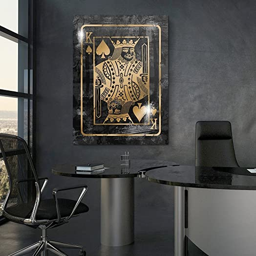 Canvas CulturesThe King is Back Motivational Wall Canvas Art