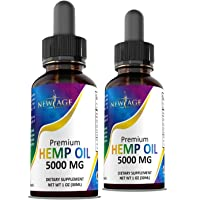 (2-Pack) 5000mg Hemp Oil Extract for Pain, Anxiety & Stress Relief - 5000mg of Pure...