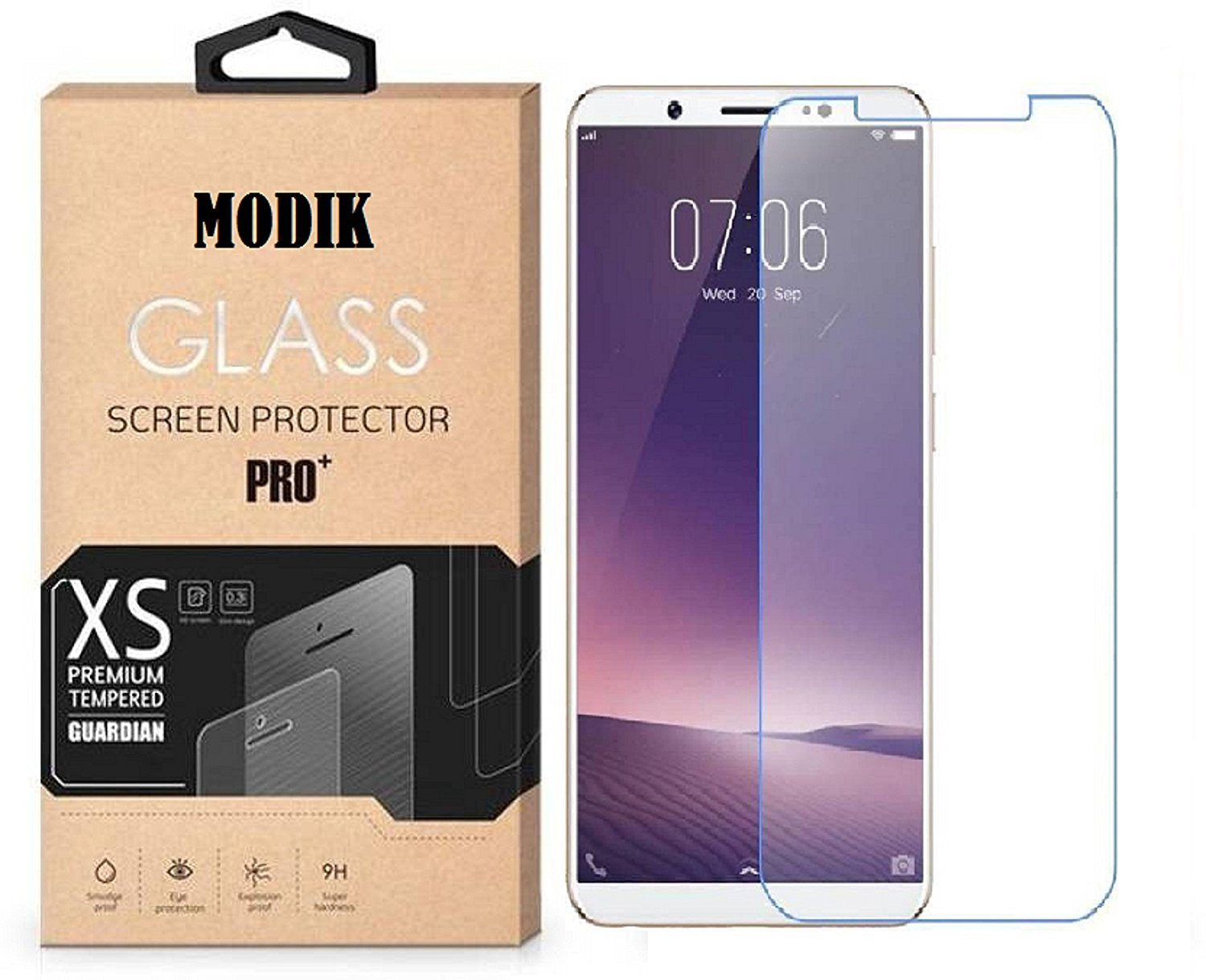 MODIK Xiaomi Redmi Note 5 Tempered Glass Screen Protector - Transparent